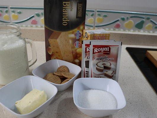 Ingredientes necesarios para hacer la tarta de turrón con Thermomix