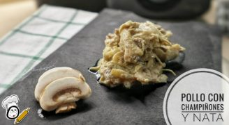 Cómo hacer pollo con champiñones a la nata con Mambo
