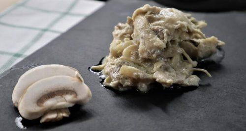 Receta de pollo con nata terminada