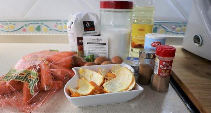 Ingredientes necesarios para hacer el bizcocho de zanahoria