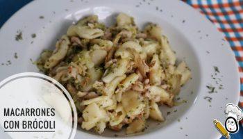 Macarrones con brócoli y carne picada en la Olla GM
