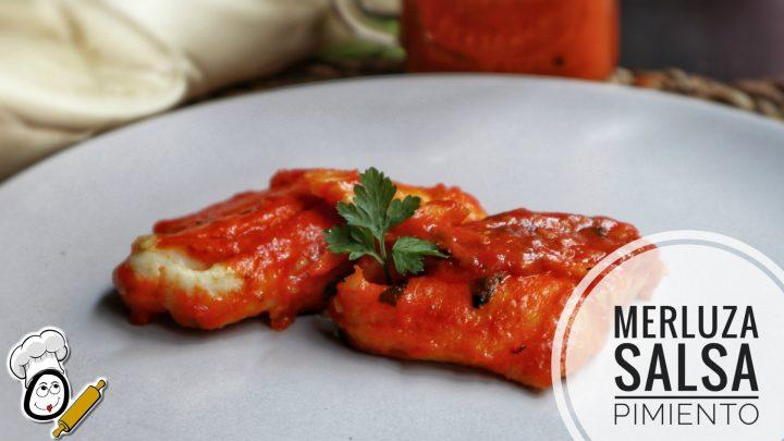 Cómo hacer merluza en salsa de pimientos de piquillos