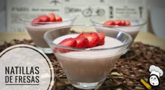 Natillas de fresas con Thermomix