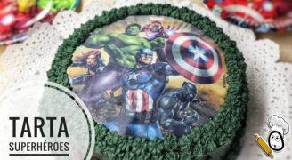 Tarta de superhéroes la tarta de cumpleaños con Thermomix