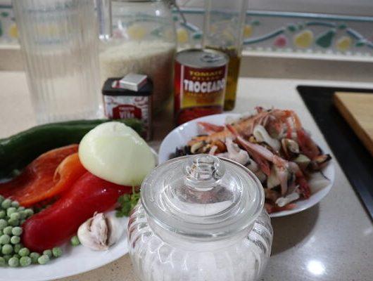 Ingredientes para hacer paella de marisco con Mambo fácil