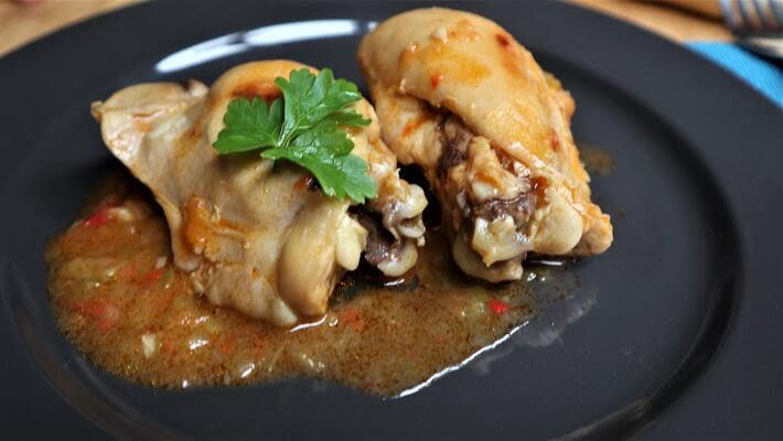 Receta lista de pollo al chilindrón con Mambo de Cecotec