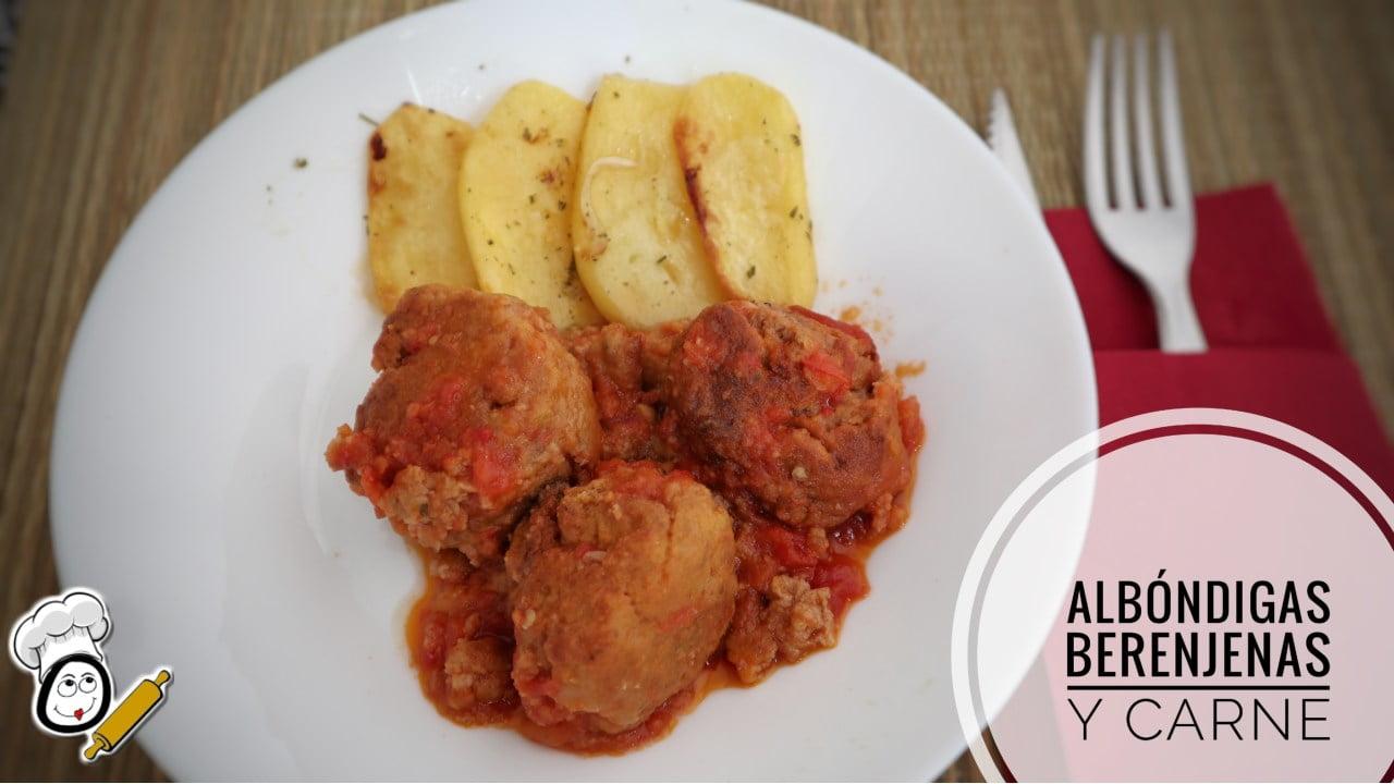 Receta de albóndigas con berenjenas y carne picada en salsa de tomate con Mambo