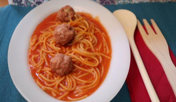 Como hacer con Thermomix la receta de espaguetis con albóndigas