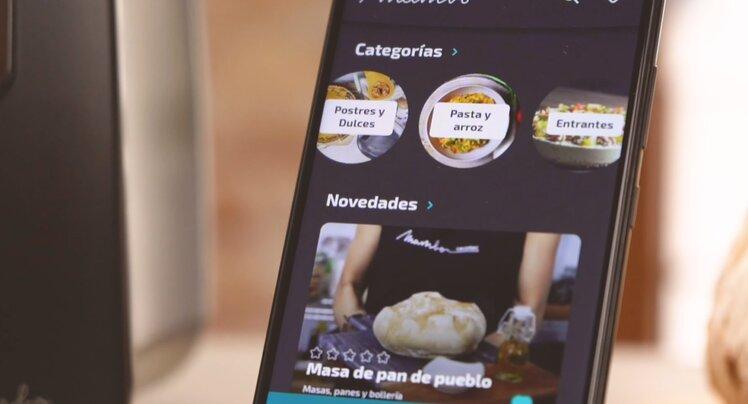 La aplicación móvil para poder cocinar directamente desde el smartphone