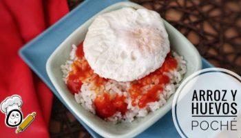 Huevos poché con arroz blanco en Thermomix