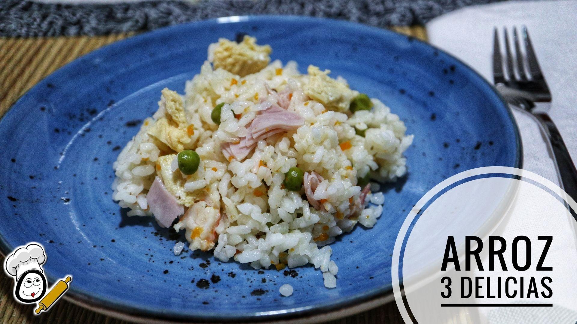 Como preparar la receta de arroz tres delicias en Mambo Cecotec