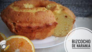 Receta de bizcocho de naranja hecho con el robot de cocina de Thermomix