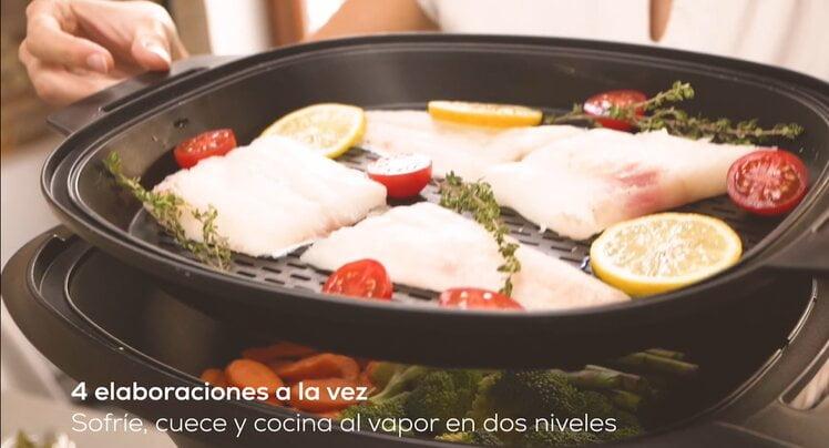 La vaporera bandejas para cocinar en 3 niveles al vapor