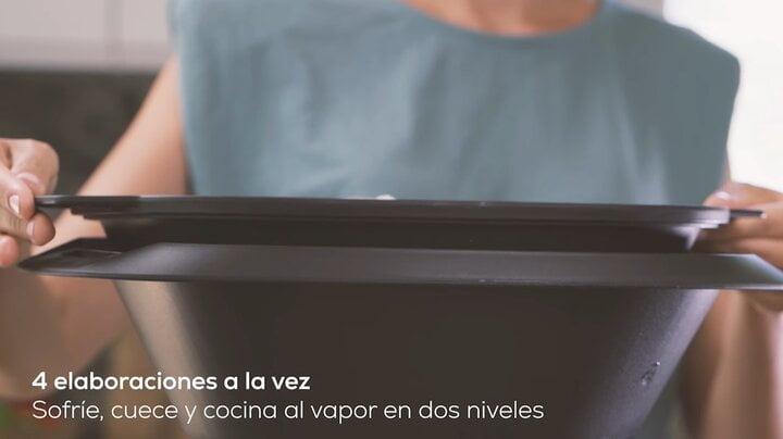 Cocina a 4 niveles gracias a la vaporera y el cestillo con Mambo de Cecotec