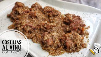 La receta de costillas al vino con arroz en Thermomix