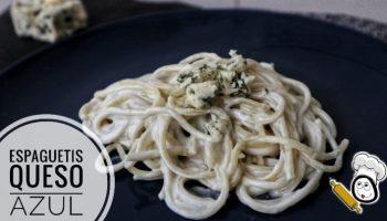 Espaguetis con queso azul en la Olla Gm