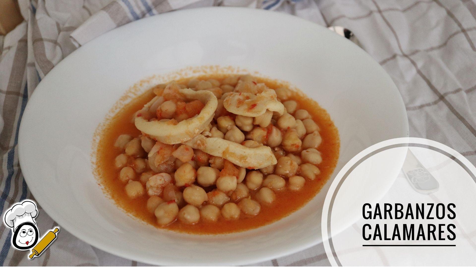 Cómo preparar la receta de garbanzos con calamares en Mambo