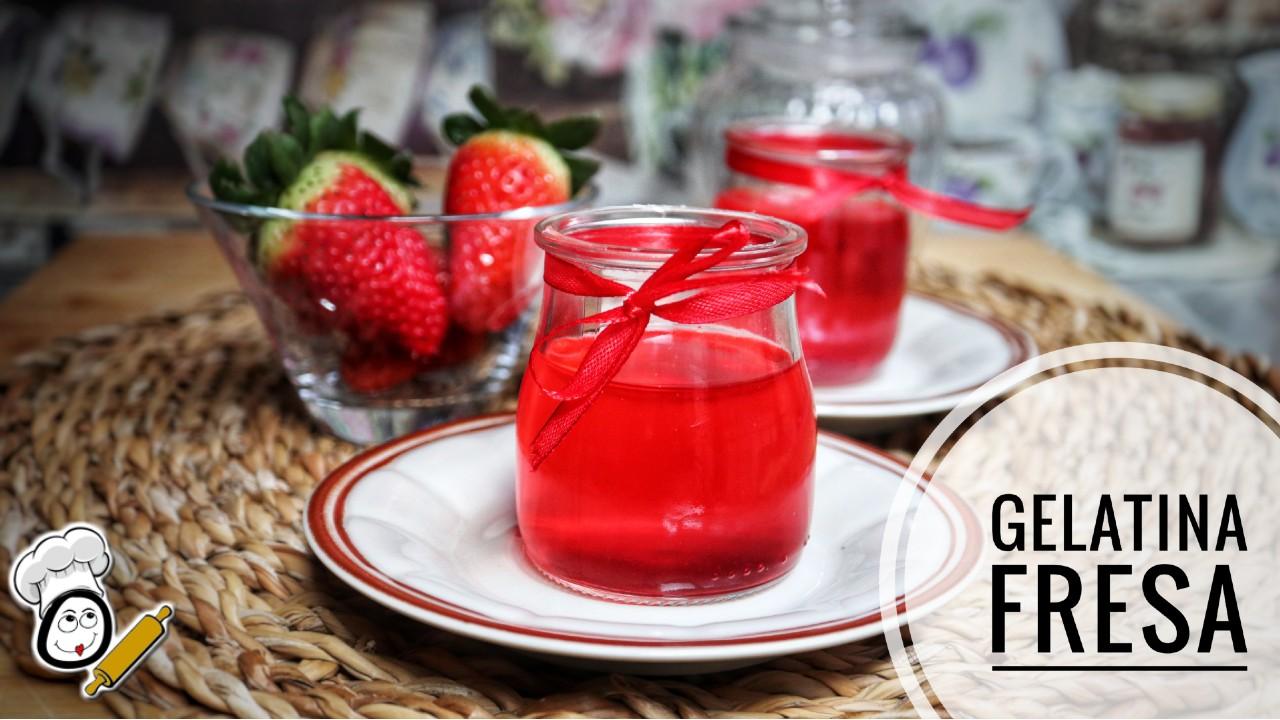 Cómo preparar la gelatina de fresa en Thermomix