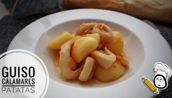 Cómo hacer guiso de calamares con patatas en Mambo