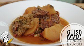 Cómo hacer guiso de patatas con carne y brócoli en la Olla GM