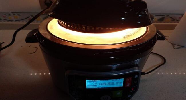 Ponemos el cabezal de horno y cocinamos la tortilla