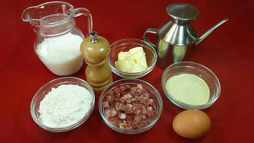 Los ingredientes necesarios para hacer croquetas de jamón serrano caseras
