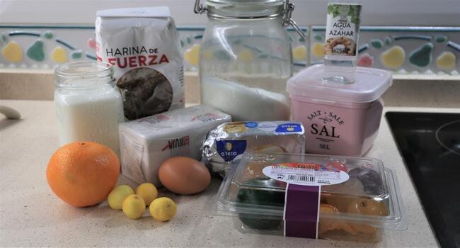 Los ingredientes para hacer roscón de Reyes con Mycook