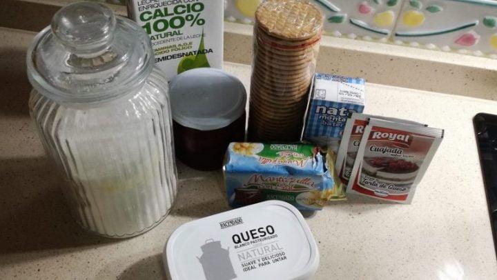 Los ingredientes necesarios para hacer tarta de queso en Thermomix