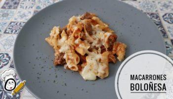 Macarrones a la boloñesa con Mambo de Cecotec