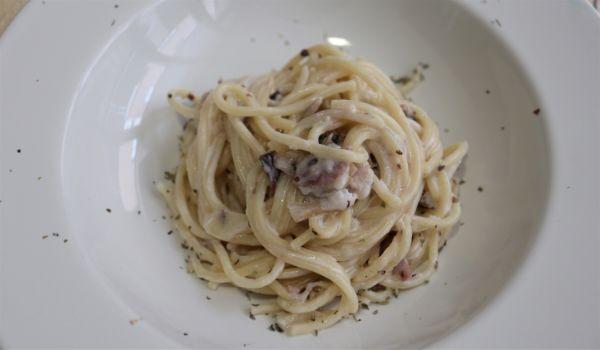 Hacer con Mambo la receta de espaguetis con nata