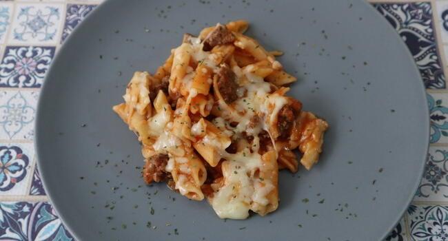Mambo receta de macarrones a la boloñesa con Mambo de Cecotec