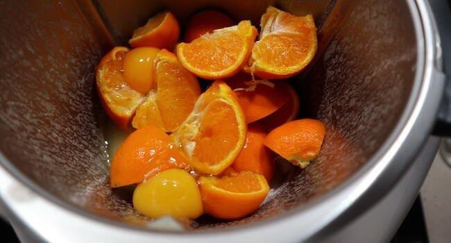 Triturar las mandarinas