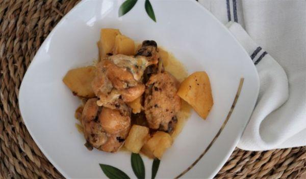En la olla gm hacemos el guiso con patatas y pollo