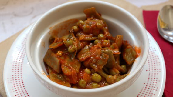 Como hacer con la Olla GM verduras guisadas con tomate