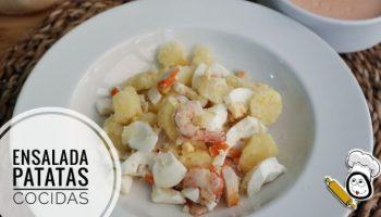Ensalada de patatas cocidas con Thermomix