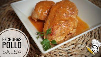 Cómo hacer la receta de pechugas de pollo en salsa en la Olla gm