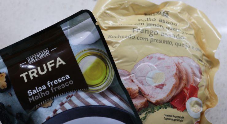 Ingredientes para hacer pollo asado relleno del Mercadona