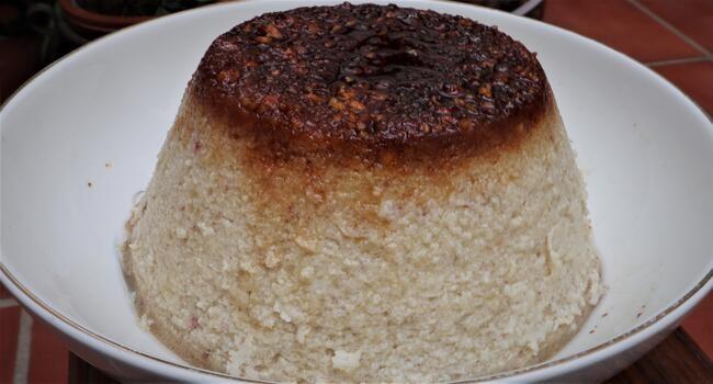Thermomix receta hecha de flan de castañas con Thermomix