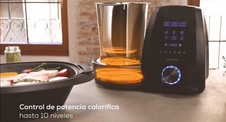 Control de potencia calorífica en el robot de cocina de Mambo Cecotec