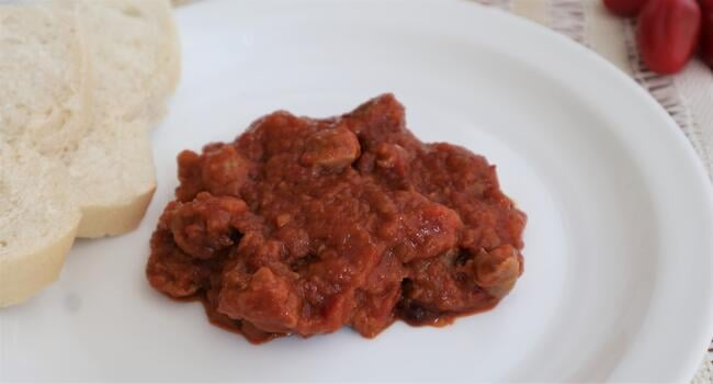 Receta de mollejas de tomate en Thermomix
