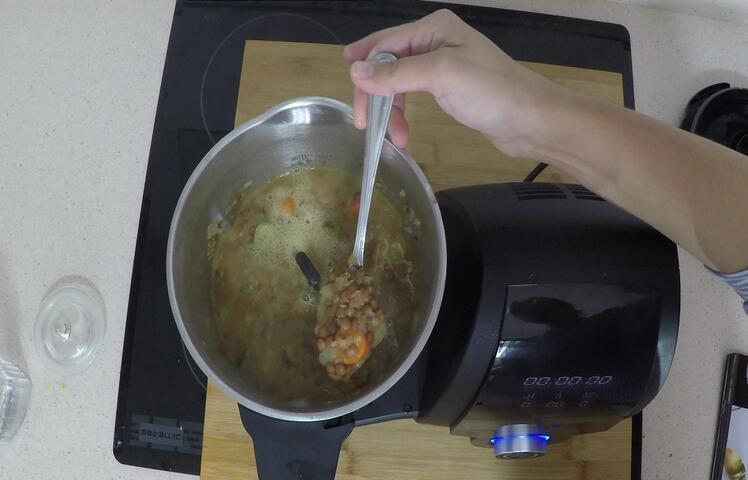 Ya tenemos la receta hecha con el robot de cocina de Cecotec, las lentejas acompañadas de verduras