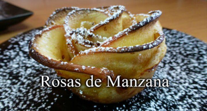 Rosas de manzanas hechas caseras