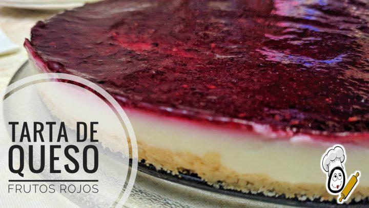 Tarta de queso y frutos rojos en Thermomix