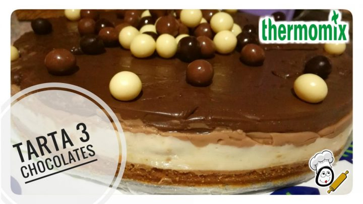 Tarta de tres chocolates en Thermomix