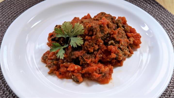 Hacer la receta de albóndigas vegetarianas con berenjenas