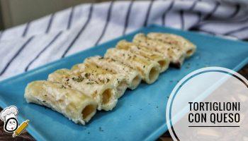 La receta de Tortiglioni con queso en la Olla GM