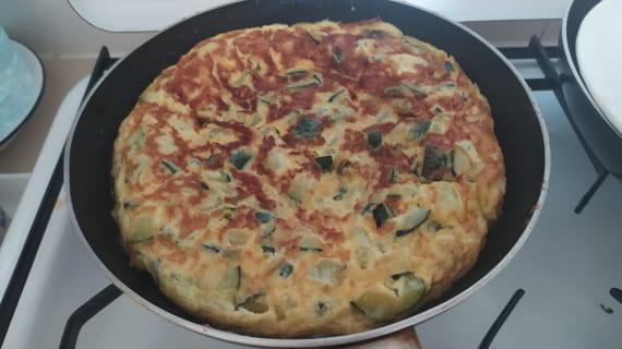 Receta de tortilla sana de calabacín