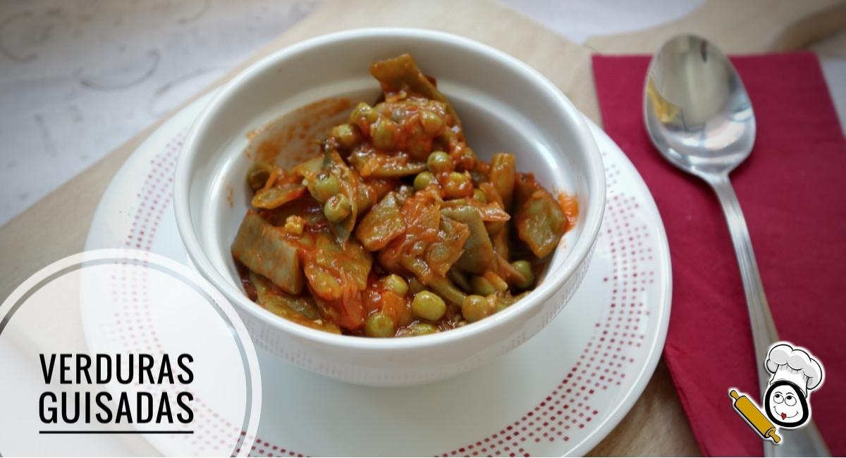Como hacer la receta de verduras guisadas con tomate en la Olla GM